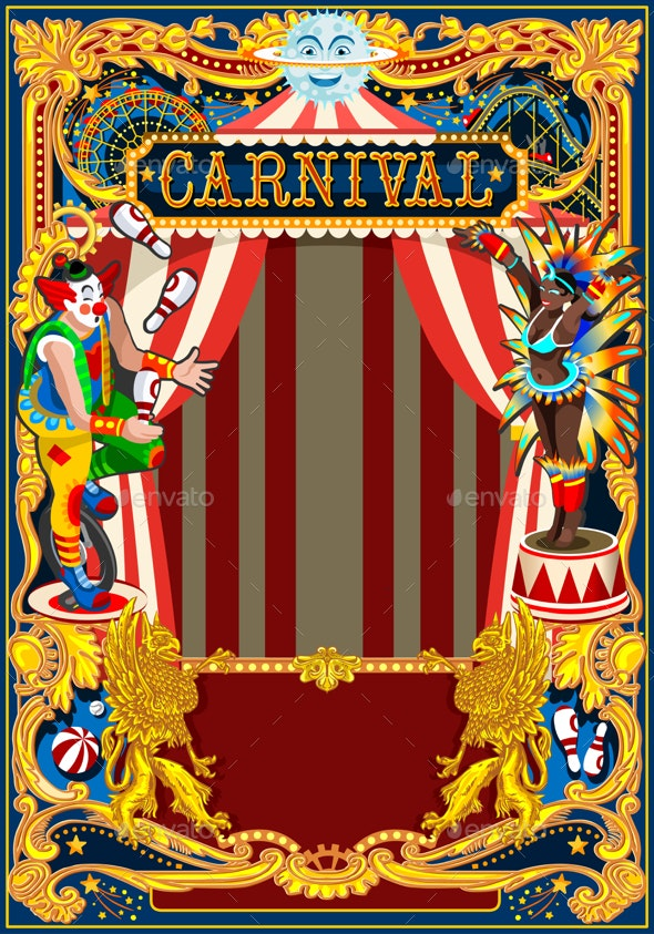 Carnival Poster Circus Theme - Backgrounds Decorative