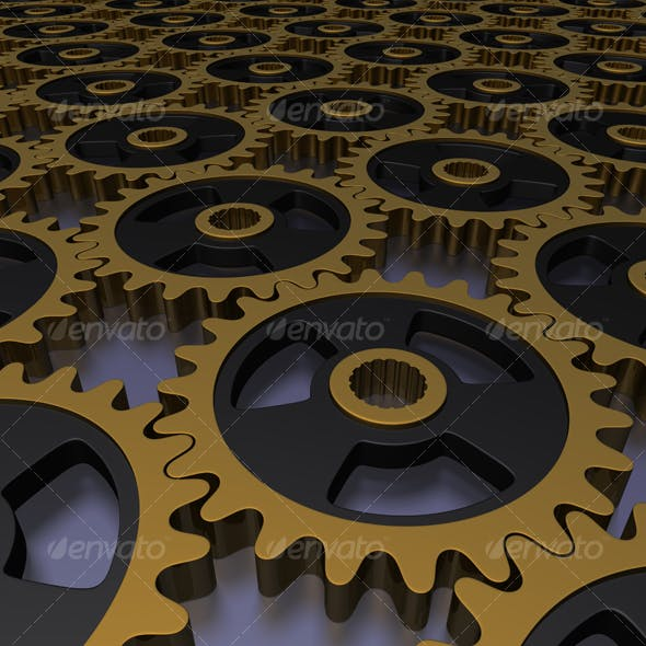 golden gears background