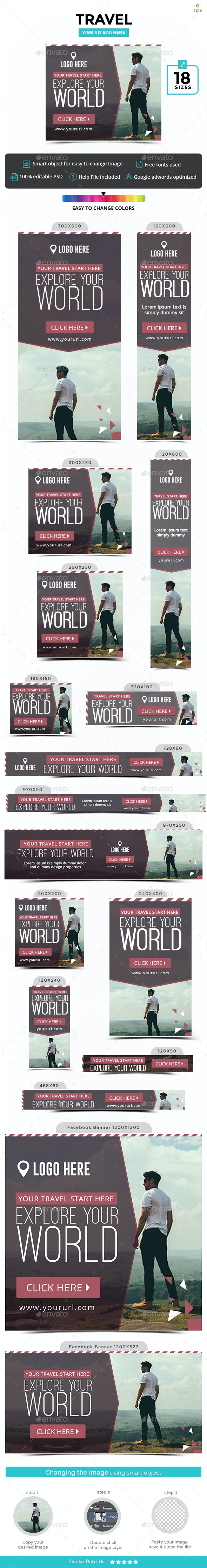 Tours & Travel Banners - Updated! - Banners & Ads Web Elements