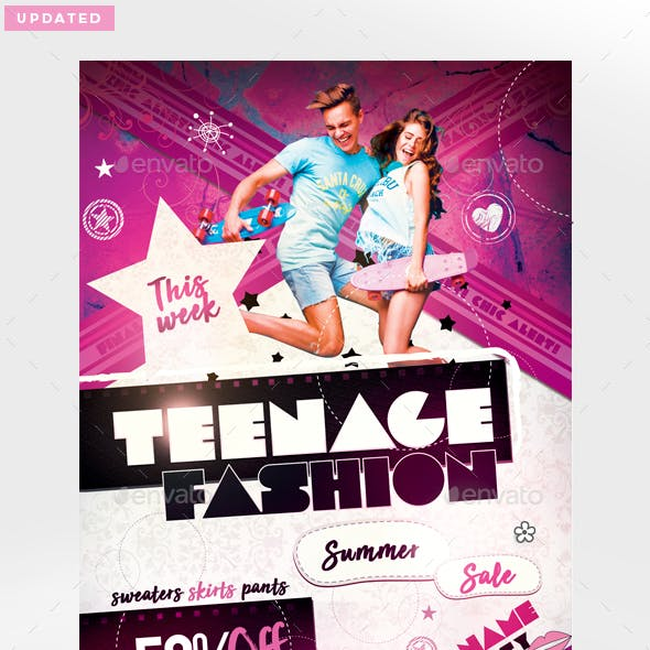 Teenage Fashion Flyer Template