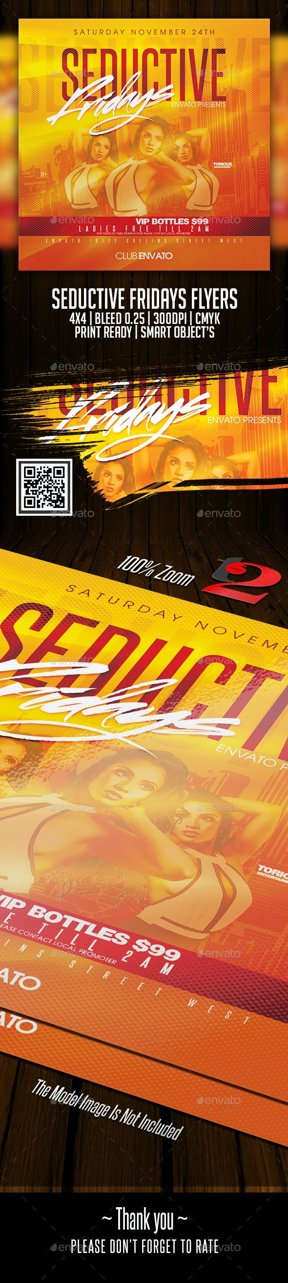 Seductive Fridays Flyers Template - Clubs & Parties Events