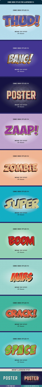 Comic Book Styles For Illustrator V4 - Styles Illustrator