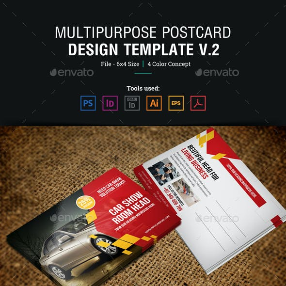 Multipurpose Postcard Design v2