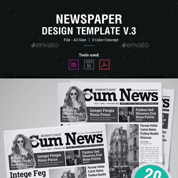 20 Page Newspaper Design v3