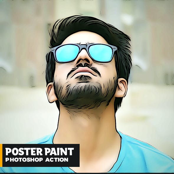 Poster Painting Photoshop Action