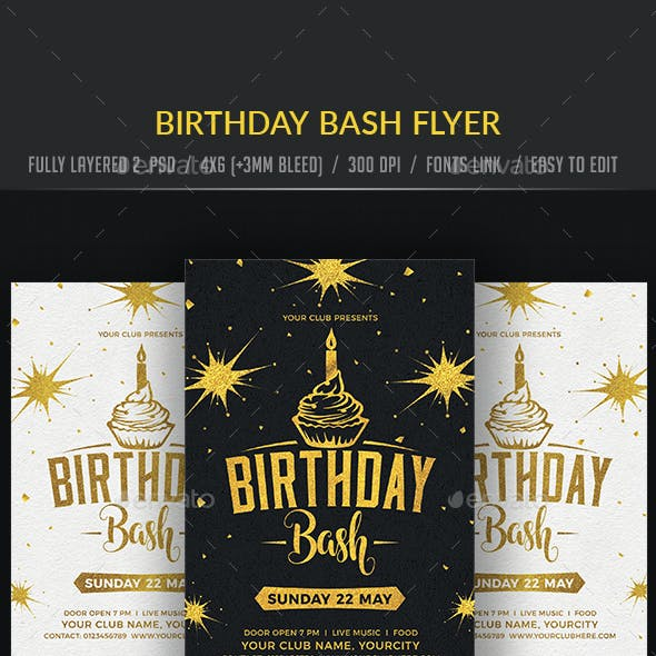 Birthday Bash Flyer,Birthday Bash Flyer