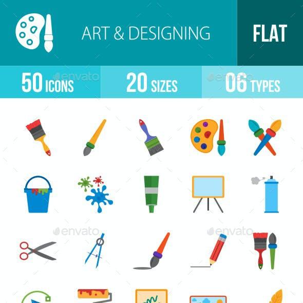Art & Designing Flat Multicolor Icons