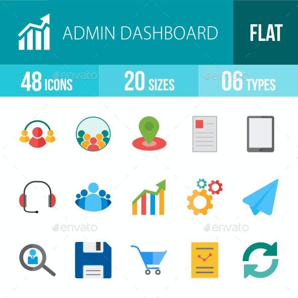 Admin Dashboard Flat Multicolor Icons
