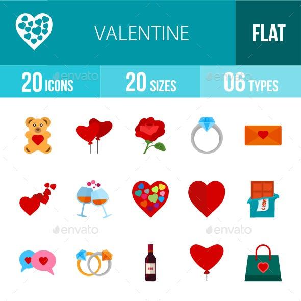 Valentine Flat Multicolor Icons