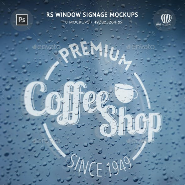 RS Window Signage Mockups