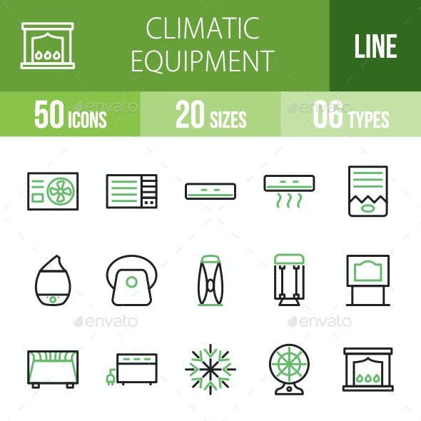 Climatic Equipment Line Green & Black Icons