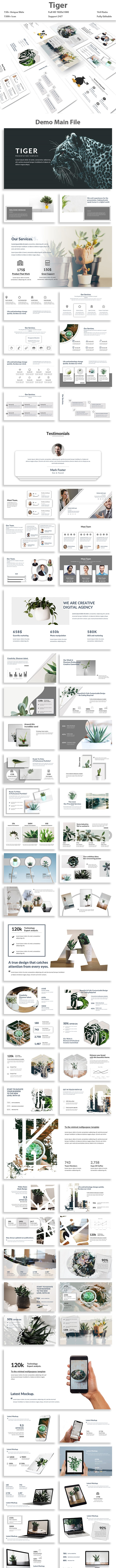 Tiger - Multipurpose PowerPoint Template - Creative PowerPoint Templates