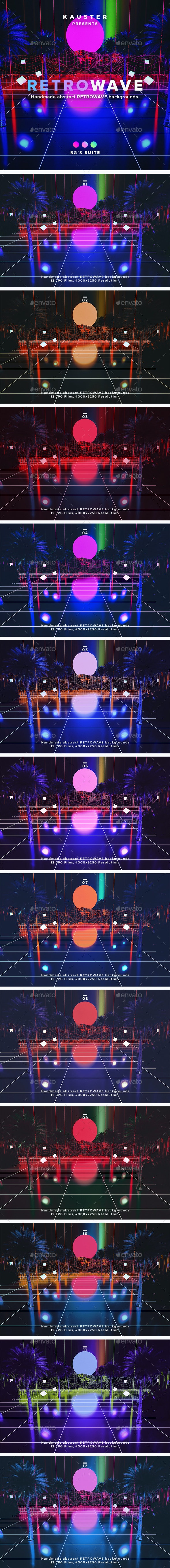 Retrowave Backgrounds - Abstract Backgrounds