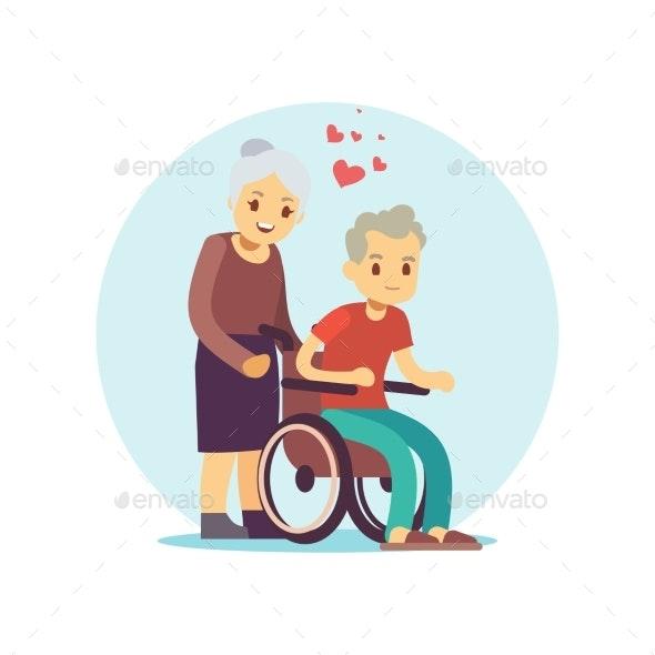 Old People Cartoon Vector Characters Set - Miscellaneous Vectors