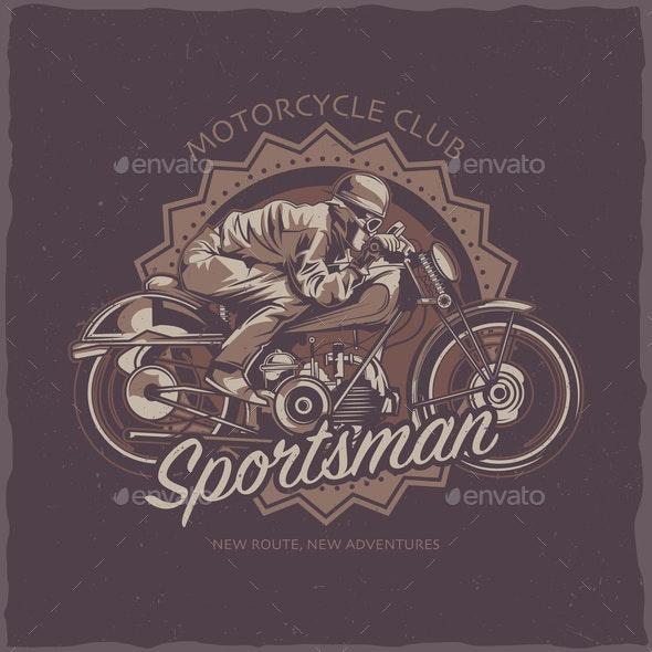 T-Shirt Label Design - Sports/Activity Conceptual