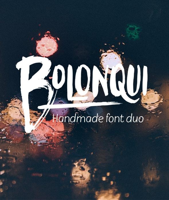Bolonqui - handmade font duo - Script Fonts
