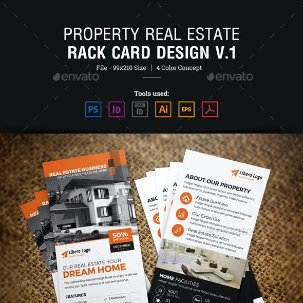 Real Estate Rackcard DL Flyer Design v1