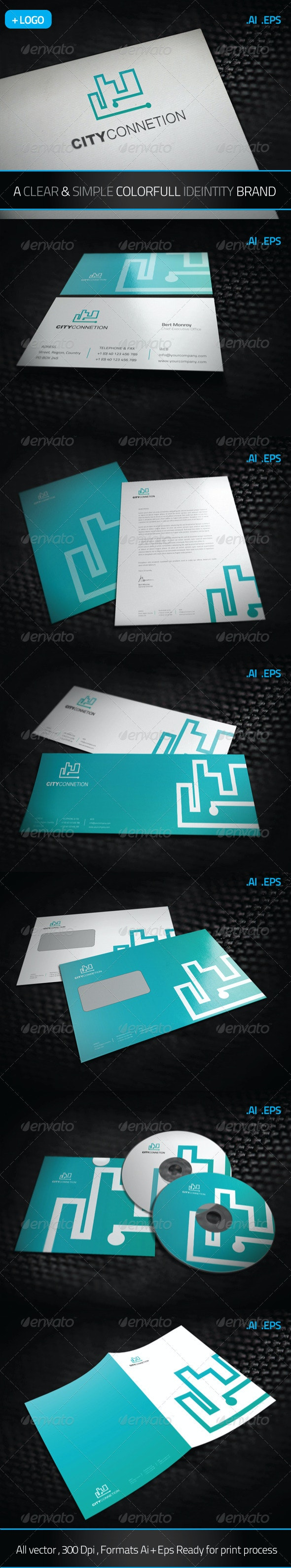 City Connection - Stationery Print Templates