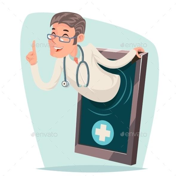 Treatment Doctor Quality Smartphone Cartoon Mobile - Health/Medicine Conceptual