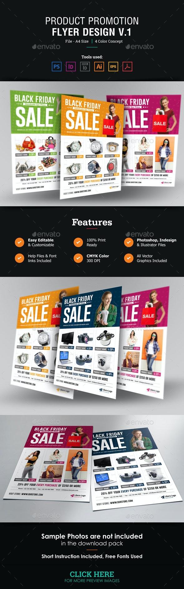 Product Promotion Flyer Design v1 - Commerce Flyers