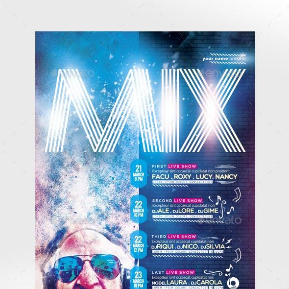 Mix Show Flyer Template