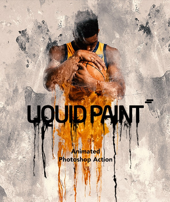 Gif Animated Liquid Paint Photoshop Action - Photo Effects Actions