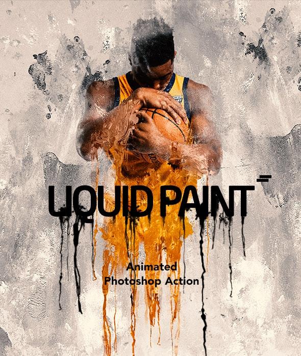 Gif Animated Liquid Paint Photoshop Action