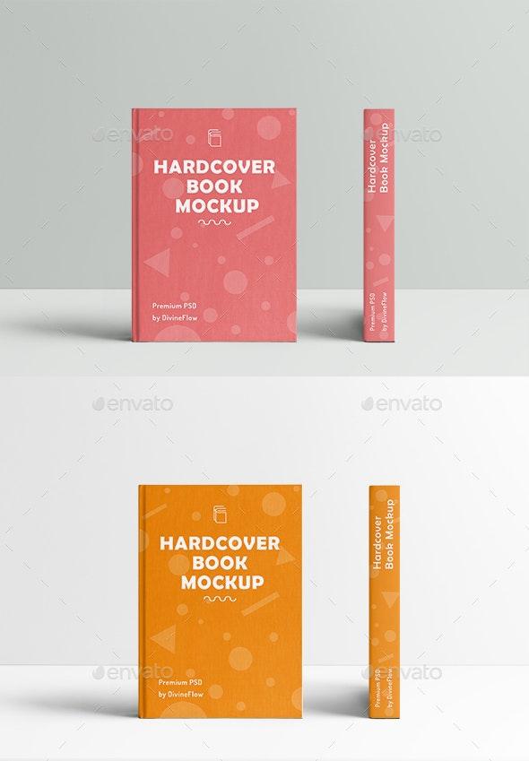Creative Hard Cover Book Mockup - Books Print