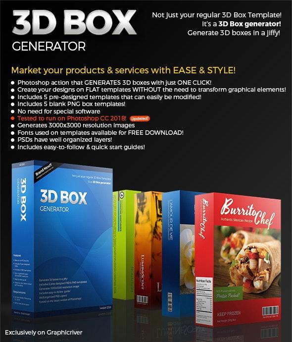 3D Box Generator Action set & Templates - Utilities Actions