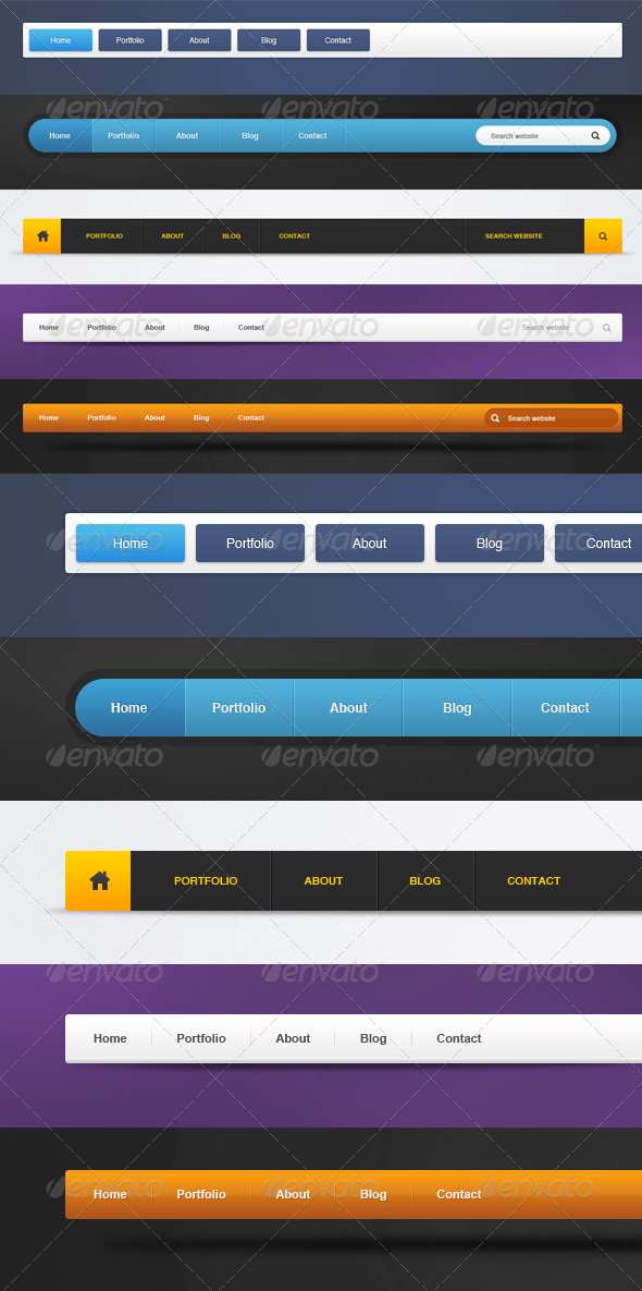 5 Navigation Bars - Navigation Bars Web Elements