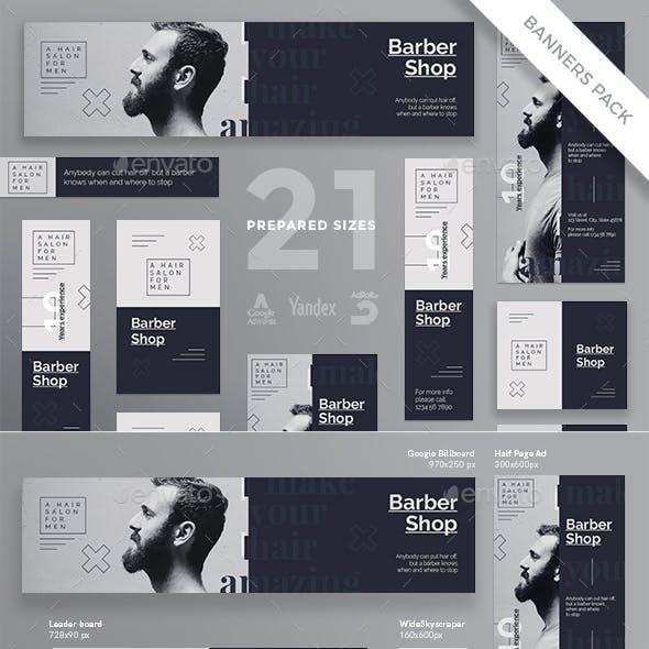 Barber Shop Banner Pack