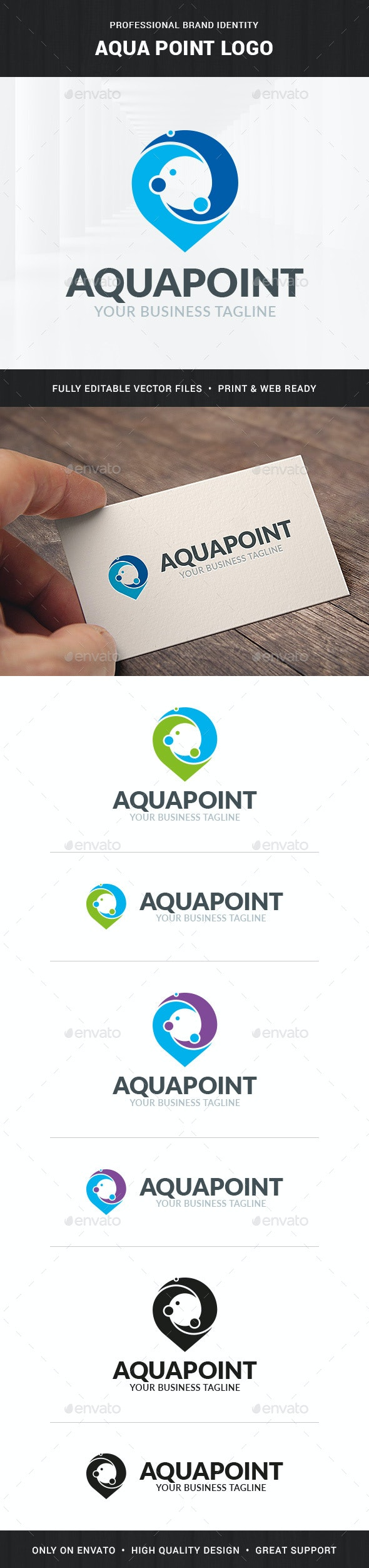 Aqua Point Logo Template - Abstract Logo Templates