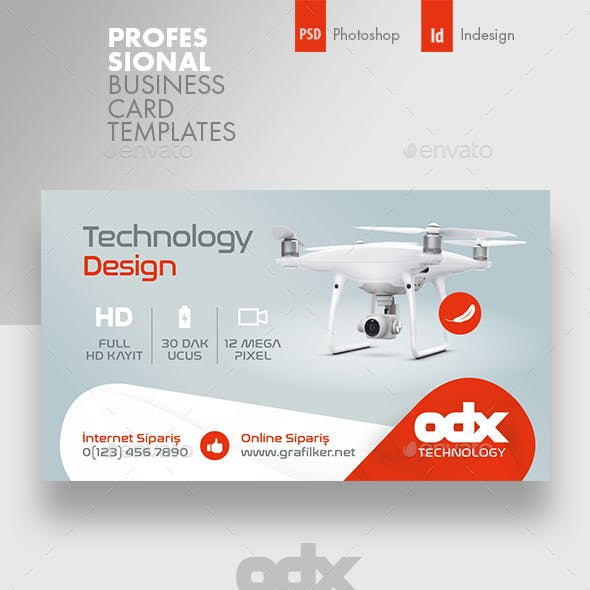 Drone Technology Business Card Templates