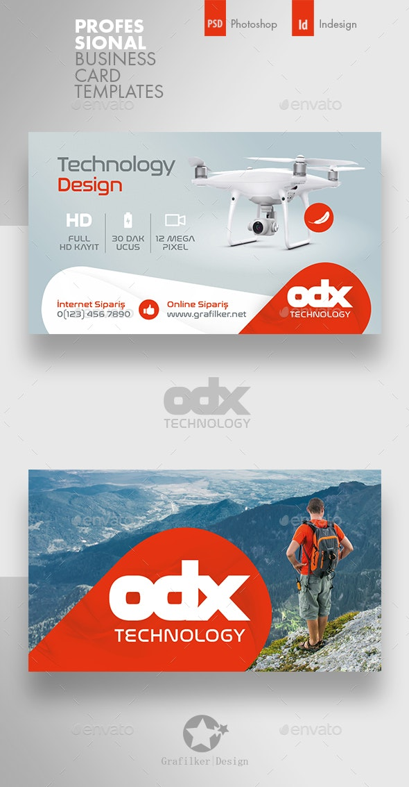 Drone Technology Business Card Templates - Corporate Business Cards