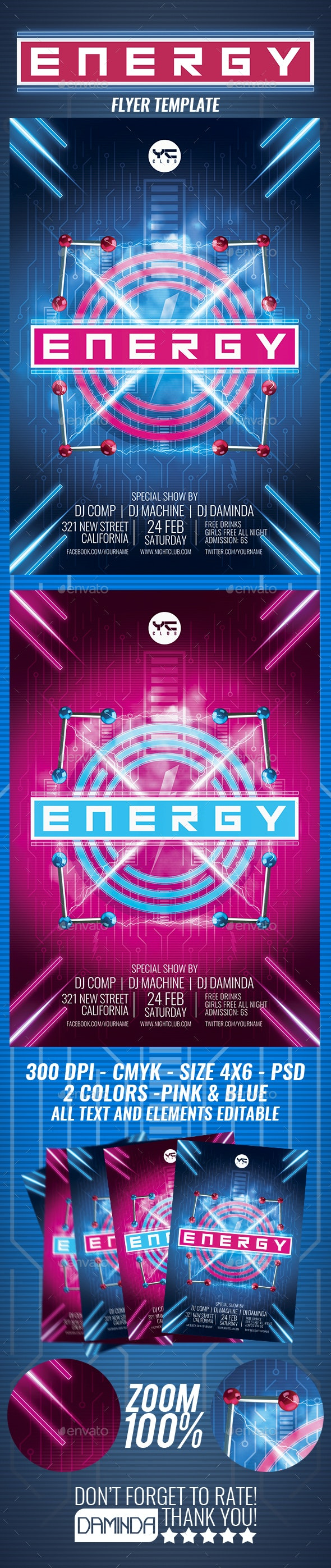 Energy Flyer Template - Clubs & Parties Events