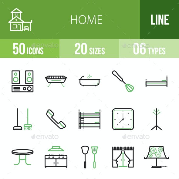 Home Line Green & Black Icons