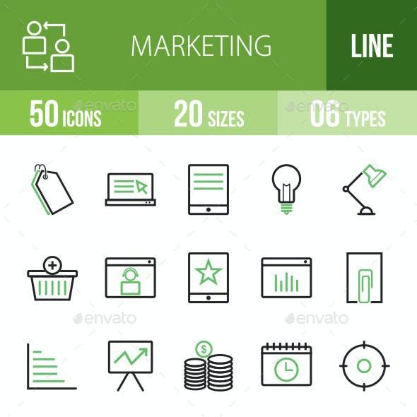 Marketing Green & Black Icons