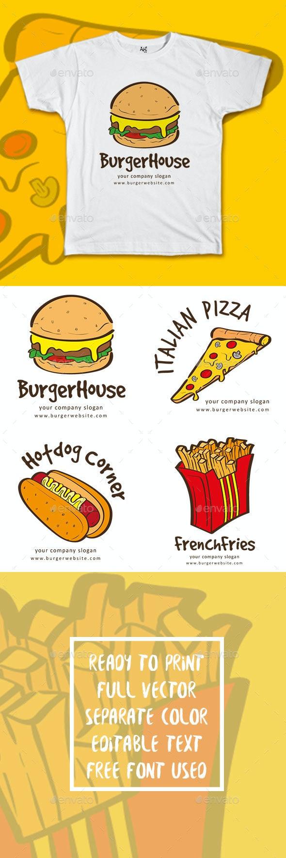 4 Restaurant Vector Design - Business T-Shirts