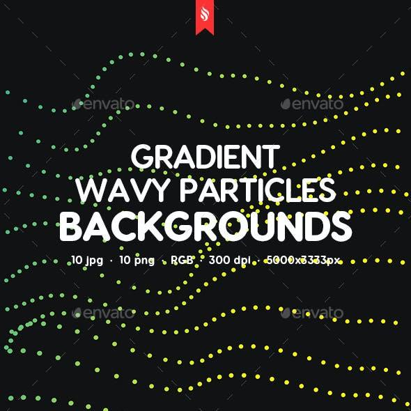 Gradient Wavy Particles Backgrounds