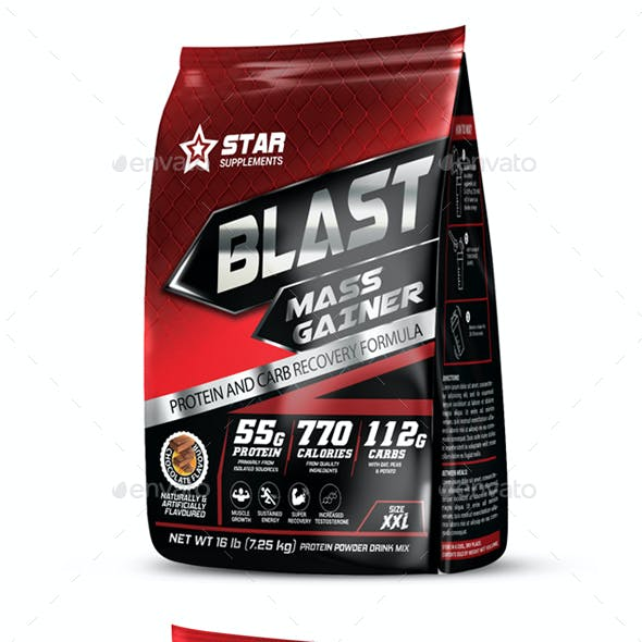 Protein Supplement Packaging Template Vol-37