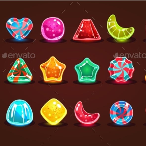 Colorful Glossy Candies