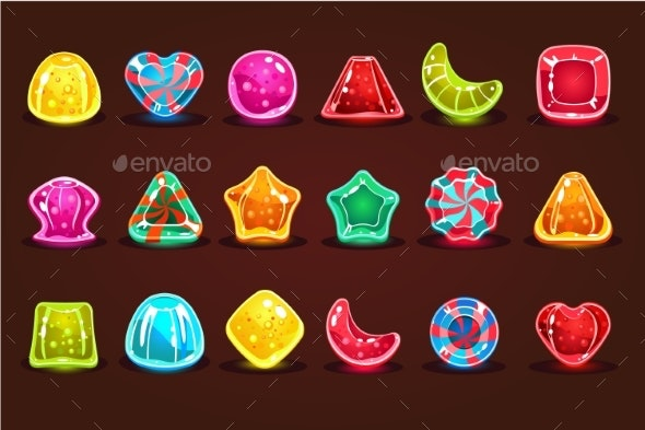Colorful Glossy Candies - Miscellaneous Vectors