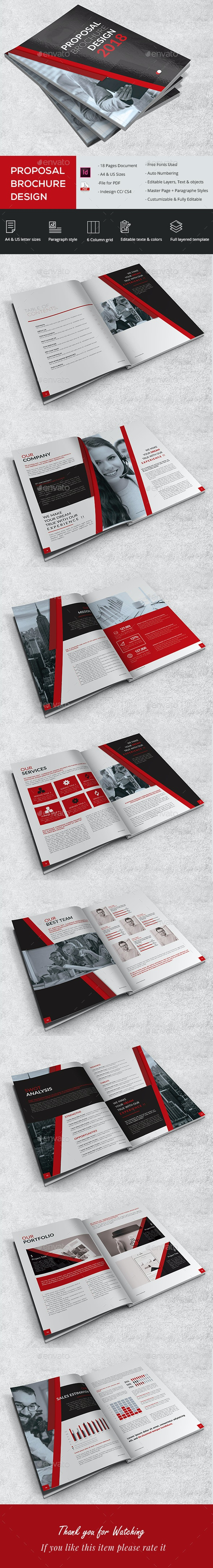 Proposal Brochure Design - Brochures Print Templates