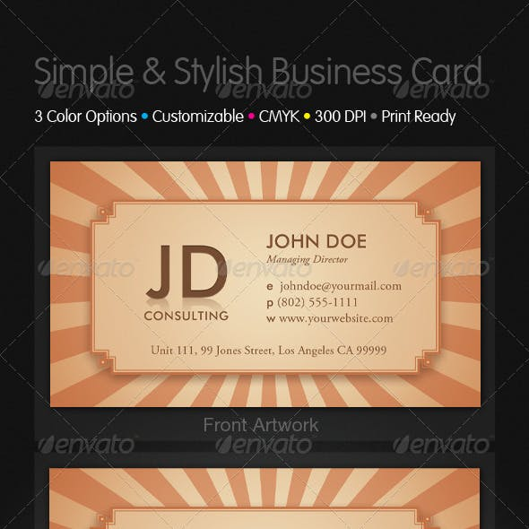 Simple and Stylish Business Cards