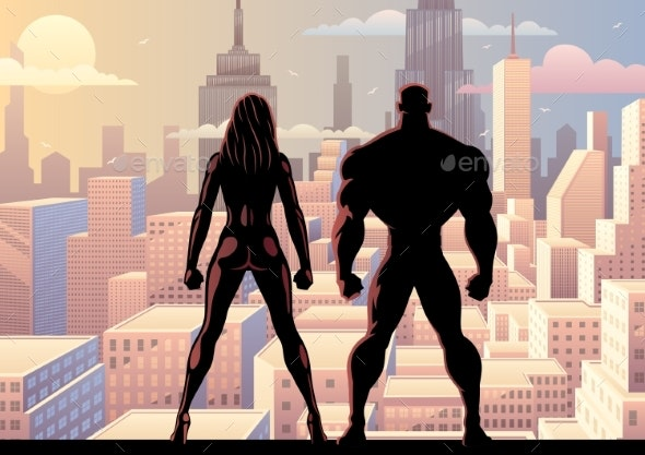 Superhero Couple Watch Day 2 - Buildings Objects