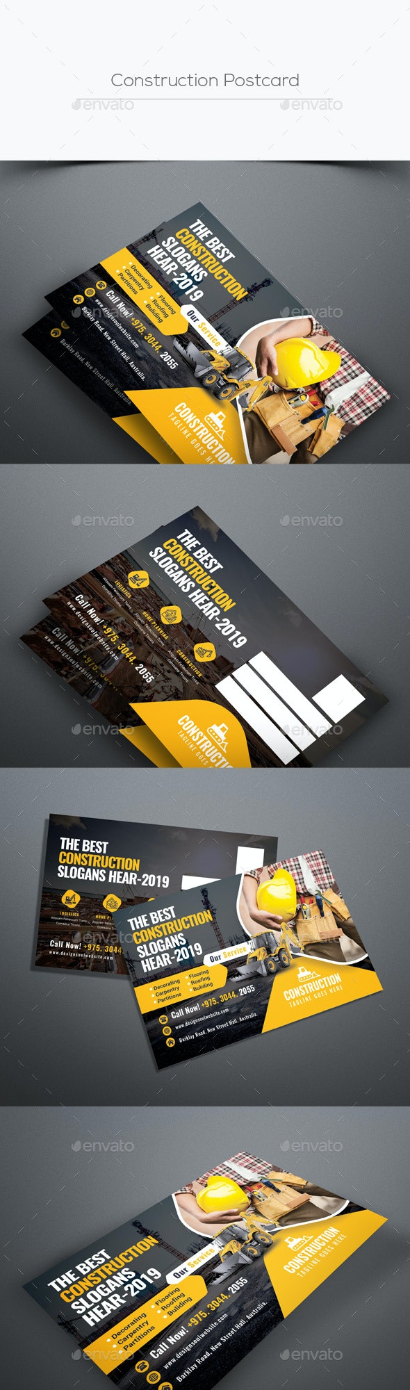 Construction Postcard - Cards & Invites Print Templates