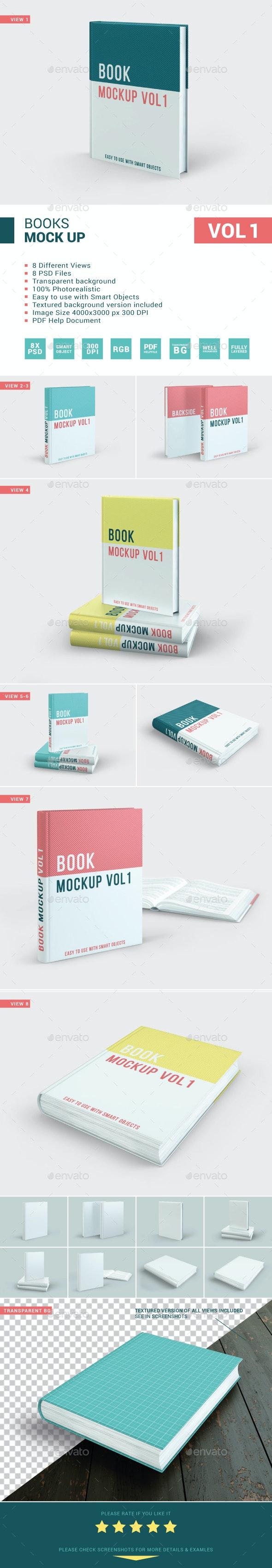 Books Mockup Vol 1 - Books Print