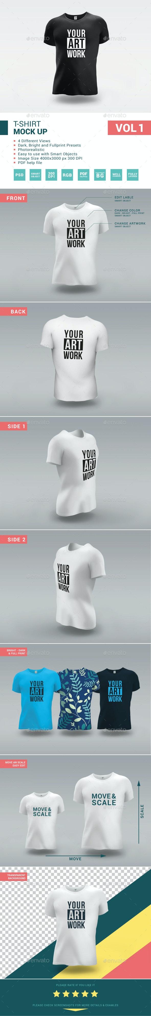 T-Shirt Mock-Up Vol 1 - T-shirts Apparel