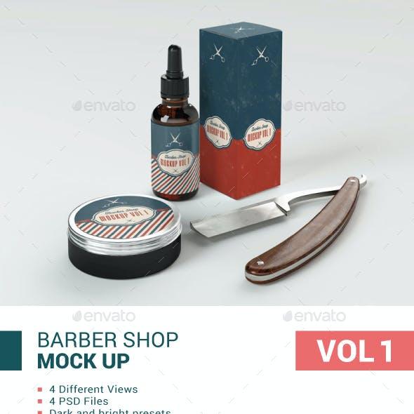 Barber Shop Mockup Vol 1