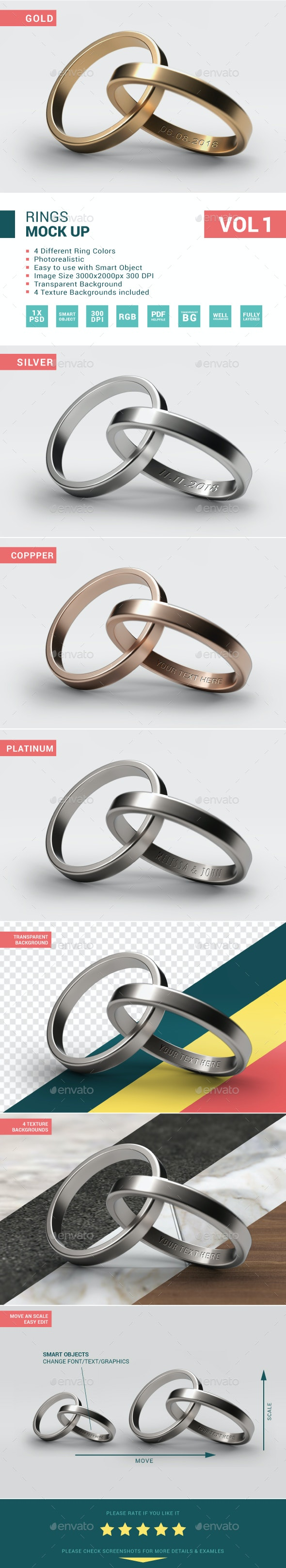 Wedding Rings Mock-Up - Miscellaneous Print